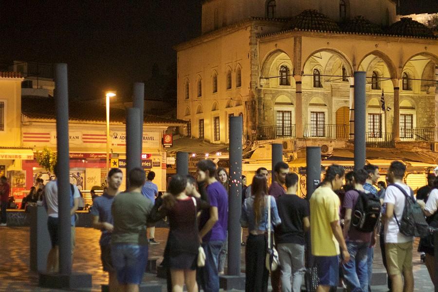 8.Nikolaos Chandolias _ Nina Bouchard_Poli[s]ound @ Monastiraki square, ADAF 2015